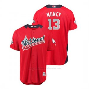 Camiseta Beisbol Hombre All Star Game Los Angeles Dodgers Max Muncy 2018 1ª Run Derby National LeagueRojo
