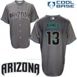 Camiseta Beisbol Hombre Arizona Diamondbacks 13 Nick Ahmed Cool Base Gris