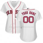 Camiseta Mujer Boston Red Sox Personalizada Blanco