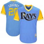 Camiseta Beisbol Hombre Tampa Bay Rays 2017 Little League World Series Steven Souza Jr Azul