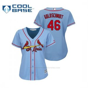 Camiseta Beisbol Mujer St. Louis Cardinals Paul Goldschmidt 2019 Cool Base Majestic Alternato Horizon Blue