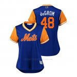 Camiseta Beisbol Mujer New York Mets Jacob Degrom 2018 Llws Players Weekend Degrom Royal