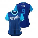 Camiseta Beisbol Mujer Kansas City Royals Drew Butera 2018 Llws Players Weekend Vito Royal