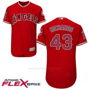 Camiseta Beisbol Hombre Los Angeles Angels 43 Garrett Richards Scarlet Flex Base