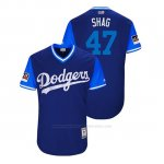 Camiseta Beisbol Hombre Los Angeles Dodgers Jt Chargois 2018 Llws Players Weekend Shag Royal