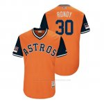 Camiseta Beisbol Hombre Houston Astros Hector Rondon 2018 Llws Players Weekend Rondy Orange