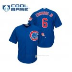 Camiseta Beisbol Hombre Chicago Cubs Carl Edwards Jr Cool Base Entrenamiento de Primavera 2019 Azul