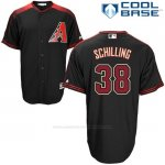 Camiseta Beisbol Hombre Arizona Diamondbacks 38 Curt Schilling Negro Cool Base
