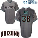 Camiseta Beisbol Hombre Arizona Diamondbacks 38 Robbie Ray Cool Base Gris