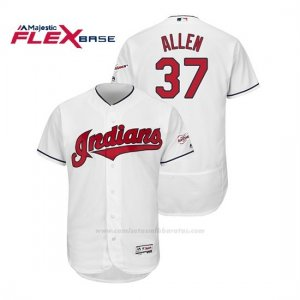 Camiseta Beisbol Hombre Cleveland Indians Cody Allen 2019 All Star Game Patch Flex Base Blanco