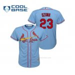 Camiseta Beisbol Nino St. Louis Cardinals Marcell Ozuna Cool Base Majestic Alternato Horizon 2019 Azul