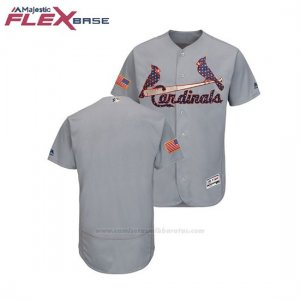 Camiseta Beisbol Hombre St. Louis Cardinals 2018 Stars & Stripes Flex Base Gris