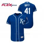 Camiseta Beisbol Hombre Kansas City Royals Danny Duffy 150th Aniversario Patch Flex Base Azul