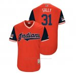 Camiseta Beisbol Hombre Cleveland Indians Danny Salazar 2018 Llws Players Weekend Sally Rojo