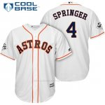 Camiseta Beisbol Hombre Houston Astros 2017 World Series George Springer Blanco Cool Base