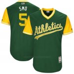 Camiseta Beisbol Hombre Oakland Athletics 2017 Little League World Series Jake Smolinski Verde