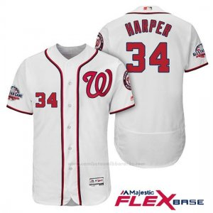 Camiseta Beisbol Hombre Washington Nationals Bryce Harper Blanco 2018 All Star 1ª Flex Base
