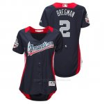 Camiseta Beisbol Mujer All Star Game Alex Bregman 2018 1ª Run Derby American League Azul