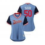 Camiseta Beisbol Mujer Minnesota Twins Aaron Slegers 2018 Llws Players Weekend Slegs Light Toronto Blue Jays