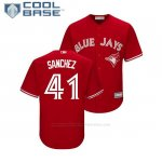 Camiseta Beisbol Nino Toronto Blue Jays Aaron Sanchez Cool Base Replica Scarlet