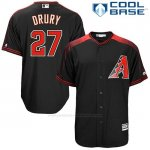 Camiseta Beisbol Hombre Arizona Diamondbacks 27 Brandon Drury Negro2 Cool Base