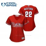 Camiseta Beisbol Mujer Philadelphia Phillies Andrew Mccutchen Cool Base Majestic Alternato Rojo