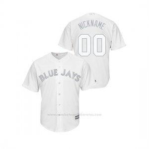 Camiseta Beisbol Hombre Toronto Blue Jays Personalizada 2019 Players Weekend Replica Blanco