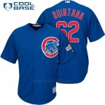 Camiseta Beisbol Hombre Chicago Cubs 2017 Postemporada 62 Jose Quintana Cool Base