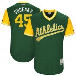 Camiseta Beisbol Hombre Oakland Athletics 2017 Little League World Series Jharel Cotton Verde