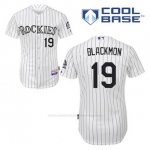 Camiseta Beisbol Hombre Colorado Rockies Charlie Negromon 19 Blanco 1ª Cool Base