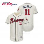 Camiseta Beisbol Hombre Atlanta Braves Ender Inciarte Flex Base Autentico Collezione Alternato 2019 Crema