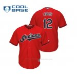 Camiseta Beisbol Hombre Cleveland Indians Francisco Lindor Cool Base Majestic Alternato 2019 Rojo