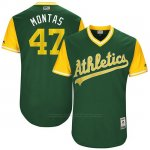 Camiseta Beisbol Hombre Oakland Athletics 2017 Little League World Series Frankie Montas Verde