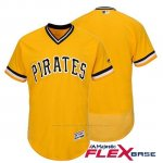 Camiseta Beisbol Hombre Pittsburgh Pirates Oro Flex Base