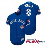 Camiseta Beisbol Hombre Toronto Blue Jays Kendrys Morales 2018 Stars & Stripes Flex Base Royal