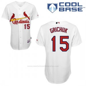 Camiseta Beisbol Hombre St. Louis Cardinals Randal Grichuk Blanco Cool Base