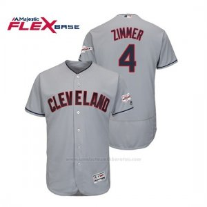 Camiseta Beisbol Hombre Cleveland Indians Bradley Zimmer 2019 All Star Game Patch Flex Base Gris