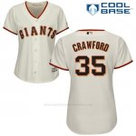 Camiseta Beisbol Mujer San Francisco Giants San Francisco Brandon Crawford Cool Base Crema