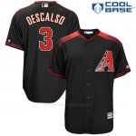 Camiseta Beisbol Hombre Arizona Diamondbacks 3 Daniel Descalso Negro Cool Base