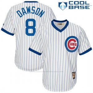 Camiseta Beisbol Hombre Chicago Cubs 8 Andre Dawson Blanco Cool Base
