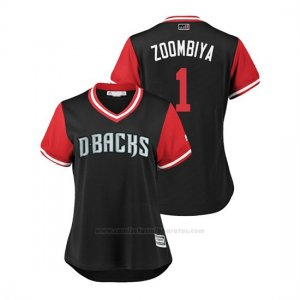 Camiseta Beisbol Mujer Arizona Diamondbacks Jarrod Dyson 2018 Llws Players Weekend Zoombiya Negro