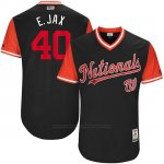 Camiseta Beisbol Hombre Washington Nationals 2017 Little League World Series Edwin Jackson Azul