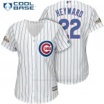 Camiseta Beisbol Mujer Chicago Cubs 2017 Postemporada 22 Jason Heyward Blanco Cool Base