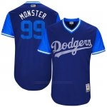 Camiseta Beisbol Hombre Los Angeles Dodgers 2017 Little League World Series Hyun Jin Ryu Royal