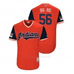 Camiseta Beisbol Hombre Cleveland Indians Cody Anderson 2018 Llws Players Weekend Big Rig Rojo