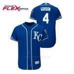 Camiseta Beisbol Hombre Kansas City Royals Alex Gordon 150th Aniversario Patch Flex Base Azul