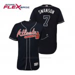 Camiseta Beisbol Hombre Atlanta Braves Dansby Swanson Flex Base Autentico Collezione Alternato 2019 Azul