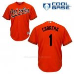 Camiseta Beisbol Hombre Baltimore Orioles 1 Everth Cabrera Naranja Alterno Cool Base
