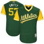 Camiseta Beisbol Hombre Oakland Athletics 2017 Little League World Series Josh Smith Verde