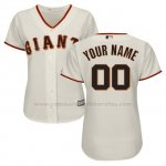 Camiseta Mujer San Francisco Giants Personalizada Blanco
